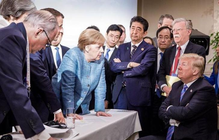 Imaginea virală de la summitul G7