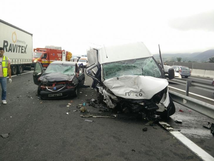 <p>Accident cumplit la Sibiu</p>