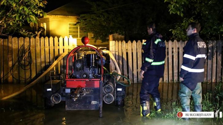 Efecte devastatoare ale ploilor în Capitală şi în Ilfov. Anunţul ISU / Foto: ISU Facebook