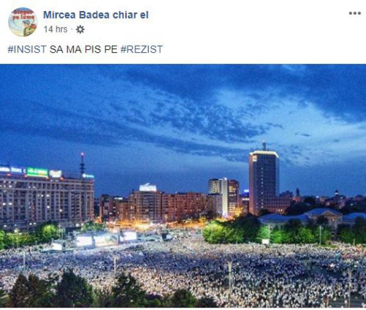 Mircea Badea, pe Facebook