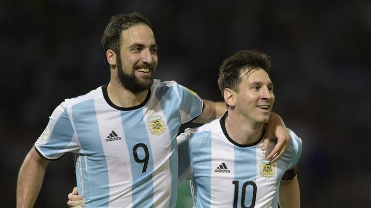 Messi, alături de Higuain, vedetele naționalei Argentinei