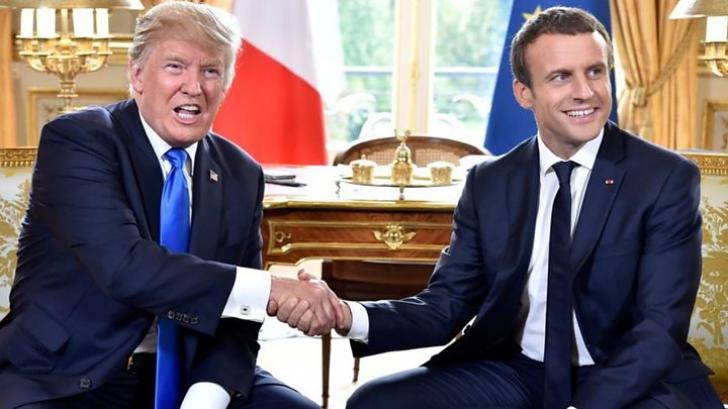 Donald Trump, la întâlnire cu Emmanuel Macron