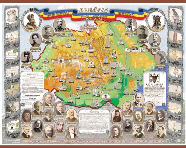 Harta României mari care a supărat autoritățile ucrainene