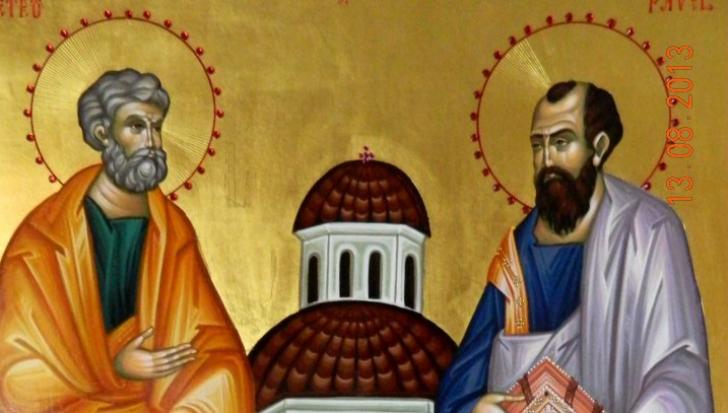 Sărbătoare mare azi: Sfinţii Apostoli Petru şi Pavel