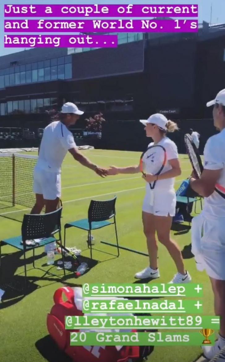 Simona Halep. Presa a surprins imaginile. Simona Halep s-a întâlnit cu Rafa Nadal