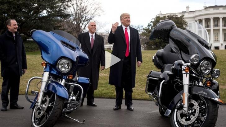 Donald Trump s-a supărat pe Harley-Davidson