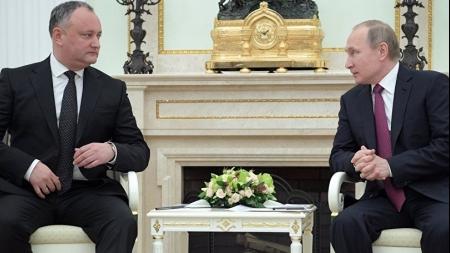Igor Dodon la Kremlin