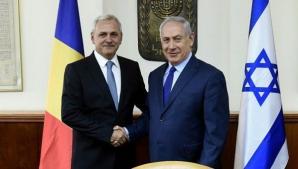Liviu Dragnea și Benjamin Netanyahu