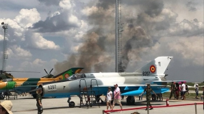 Avion MIG prăbușit