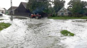 Cod portocaliu de inundaţii pe râuri din judeţul Galaţi