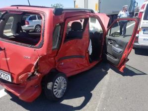 6 victime, după ce o şoferiţă A ÎNTORS MAŞINA pe autostrada A1 Sibiu - Sebeş