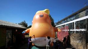 Manifestaţie cel puţin ciudată la Londra cu prilejul vizitei lui Donald Trump
