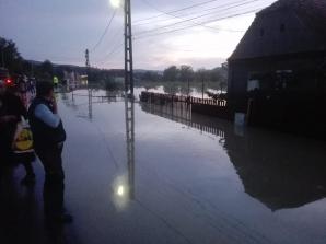 Sibiu: 50 de locuințe evacuate în Boian, în urma inundațiilor