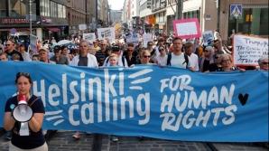Protest la Helsinki