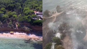 Înainte şi după incendii. Cum arăta staţiunea Mati luna trecută, înainte de dezastru