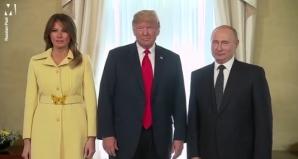 Cum a reacţionat Melania Trump după ce a dat mâna cu Putin. Imaginile care au şocat