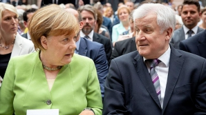 Angela MErkel, alături de liderul CDU,Horst Seehofer