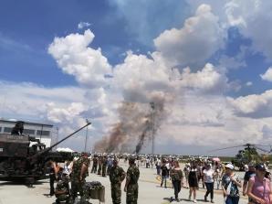 Un avion MiG s-a prăbușit la Baza Aeriană Borcea