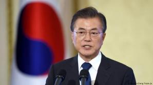 Preşedintele sud-coreean îndeamă SUA şi Coreea de Nord să avanseze în procesul denuclearizării
