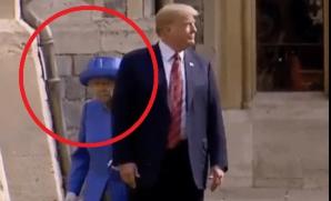 Regina Marii Britanii își caută locul prin spatele lui Trump