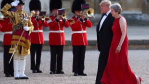 Donald Trump, primit de Theresa May