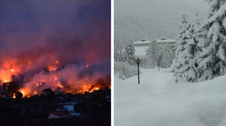 O vară apocaliptică: Incendii în nord, zăpadă în sud. Planeta se schimbă!