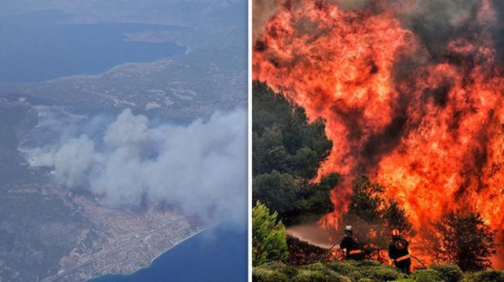 Cauza incendiilor de vegetaţie din Grecia. Autorităţile au făcut anunţul oficial