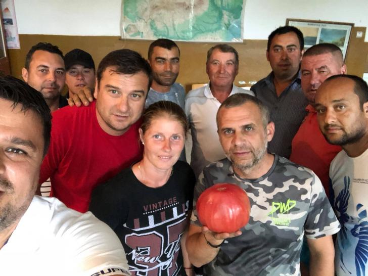 Fermierii din Doba, mândri de recolta de roșii din 2018