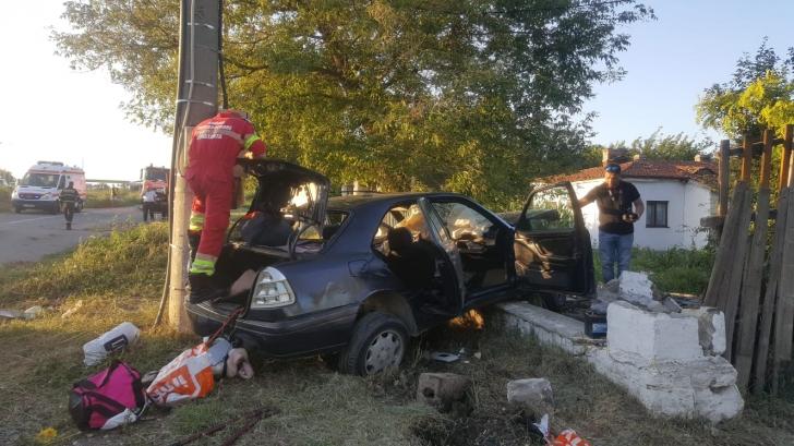 Accident grav in Ovidiu, Constanta