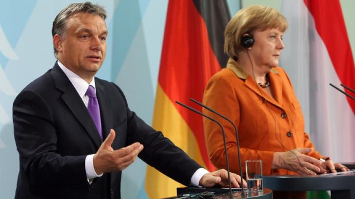Angela Merkel, alături de Viktor Orban