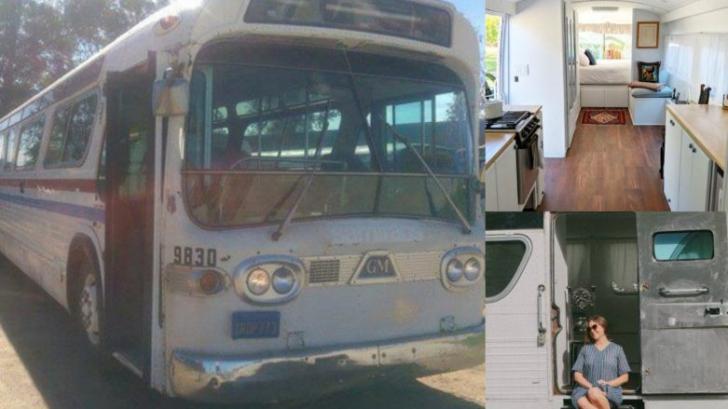 O femeie și-a transformat autobuzul vechi într-o locuință de vis