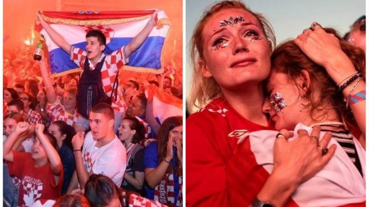 Extazul croaților și agonia englezilor după semifinala dramatică de la CM2018. Video emoționant