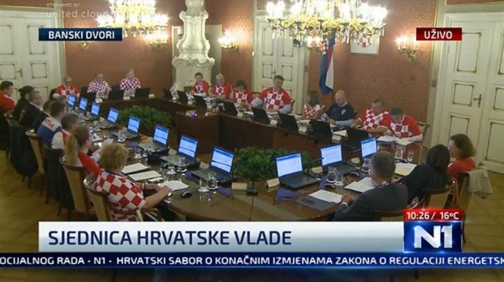 Ședință de guvern la Zagreb, după meciul Croația-Anglia 2-1