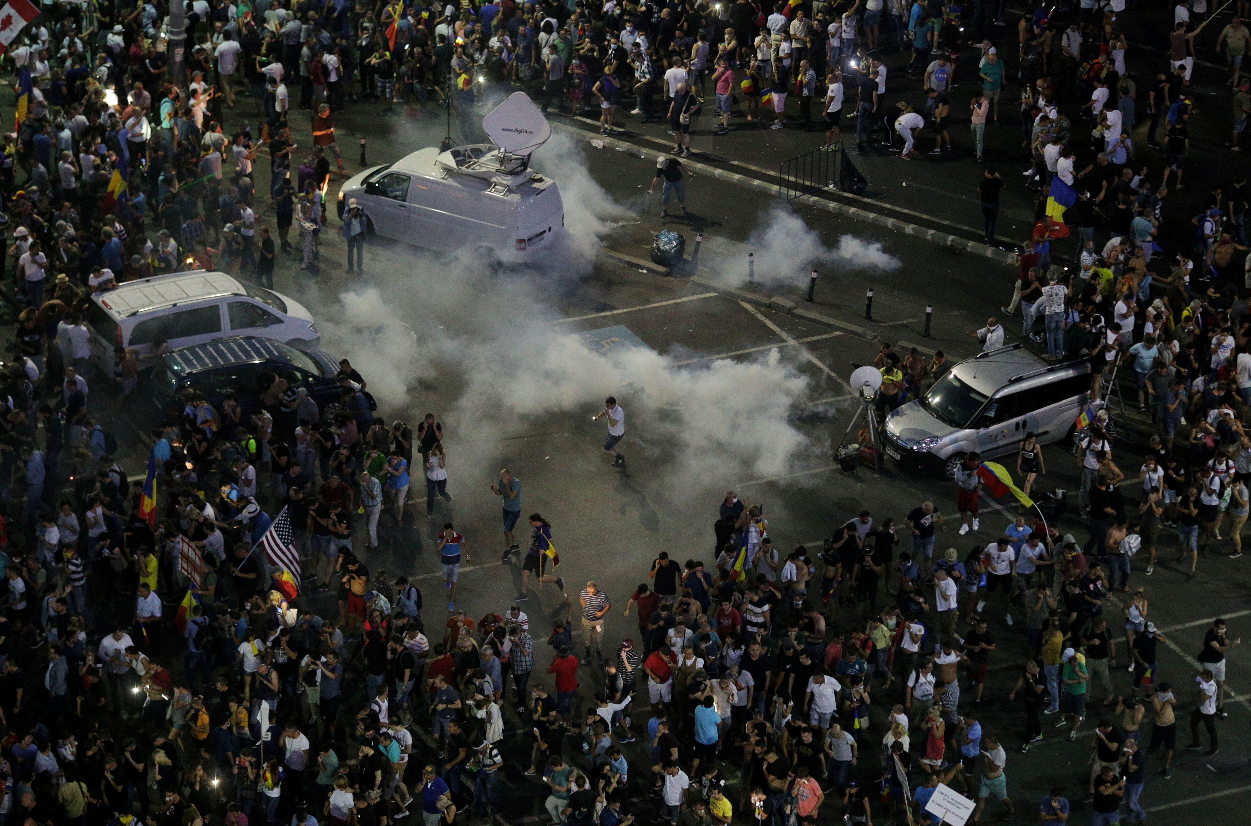 Incidente la protestul din 10 august