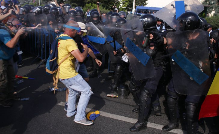 Noi controverse legate de protestul diasporei: odinul de evacuare, întocmit de jandarmi - Foto: Inquam Photos