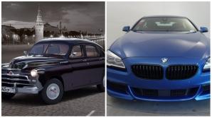Ce iese dintr-o Pobeda și un BMW 6-series