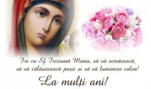 Felicitări de Sfânta Maria 2018.