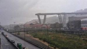 Momentul şocant al tragediei prăbuşirii podului din Italia, filmat LIVE