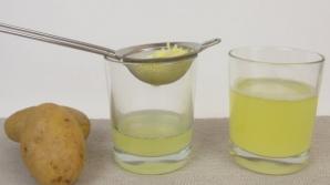 Sucul din cartofi vindecă gastrita și alte boli ale stomacului
