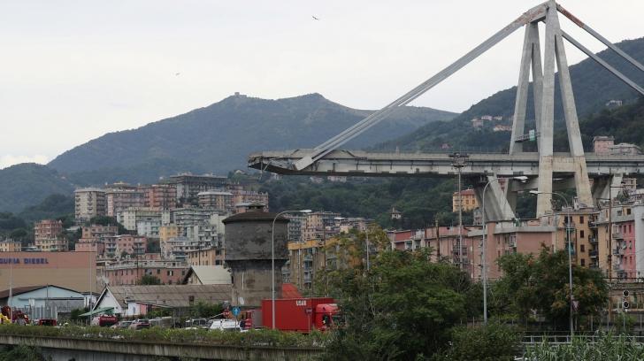 Podul prăbușit în Italia