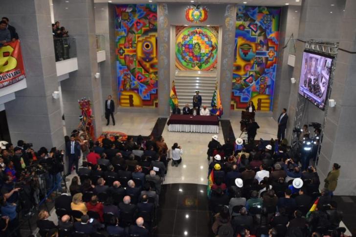 <p>Casa Poporului din Bolivia</p>