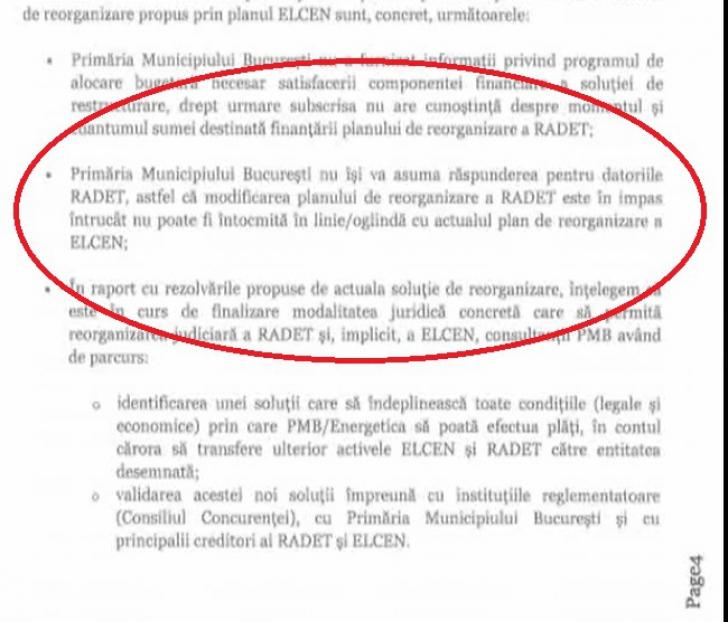 Document despre fuziunea RADET - Elcen