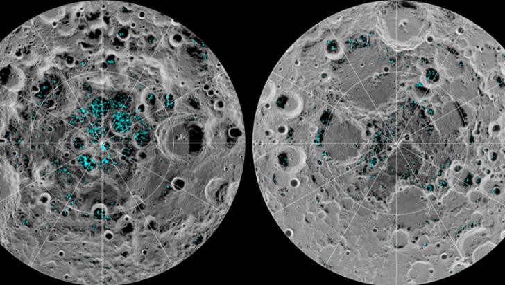 Analiza celor doi poli ai Lunii