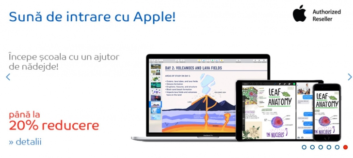eMAG are o promotie la produse Apple pentru elevi. Ce preturi au laptopurile, tabletele si telefoane