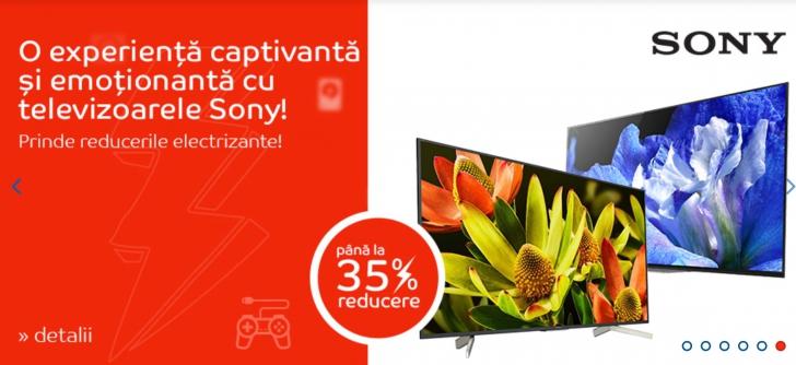 eMAG – Top 7 cele mai vandute televizoare de la Sony. Au reduceri de 35%