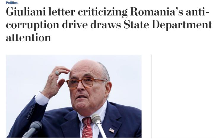 Giuliani aruncă încă o bombă! Cine e oficialul român cu care a vorbit?