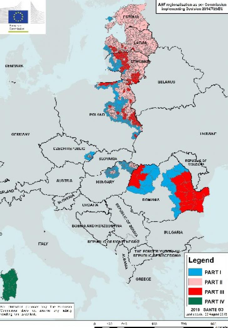 ANSVSA prezintă harta pestei porcine. Ce trebuie să facă românii din zonele afectate
