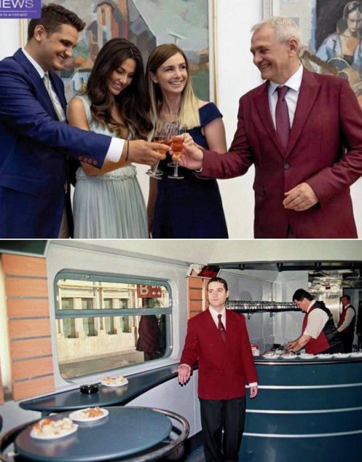 "Liviu Dragnea, ironizat pentru sacoul ""CFR vagon restaurant"""