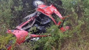 Accident grav la intrarea în Huedin