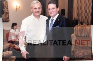 Aceasta este fotografia originala cu Liviu Dragnea si George Maior, intrata in posesia realitatea.net